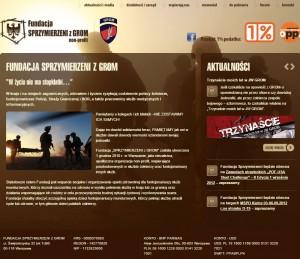 www Fundacja Sprzymierzeni z Grom